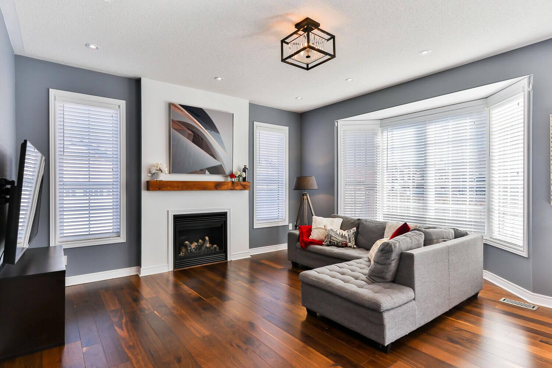 grey living room rendering