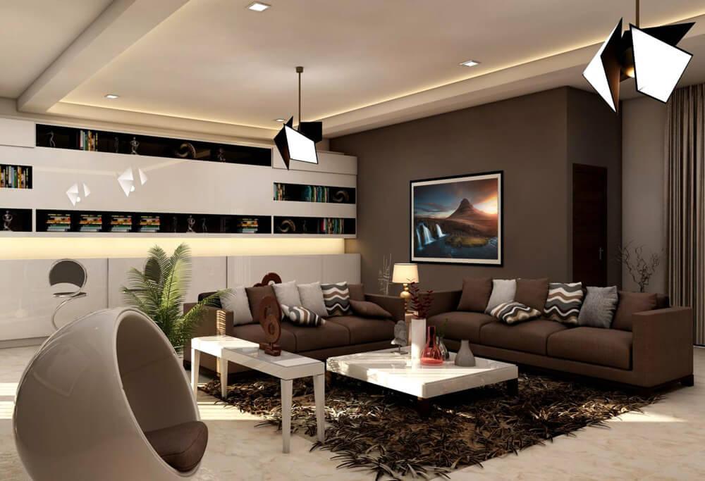 living room rendering kirkjufellfoss iceland