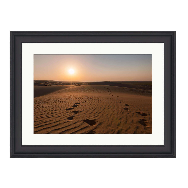 desert rose black frame mockup