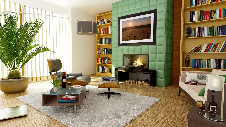 desert rose living room mockup