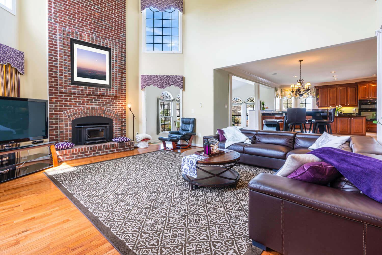 infinity living room frame mockup