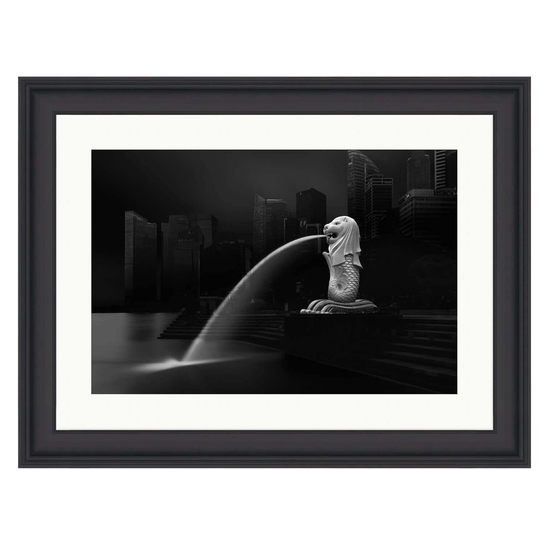merlion black frame mockup
