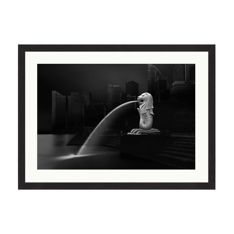 merlion box frame mockup
