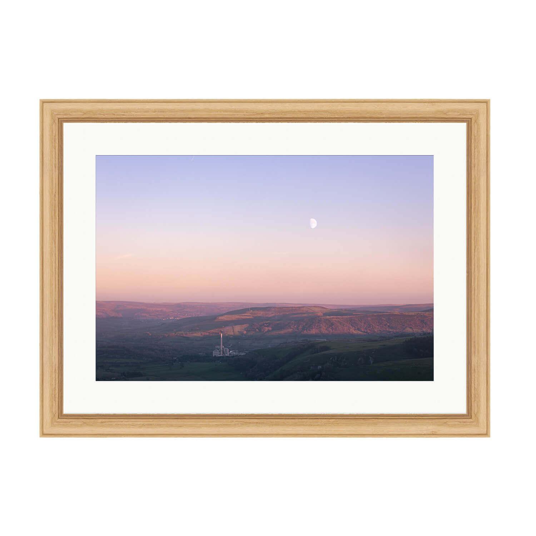 infinity bare wood frame mockup