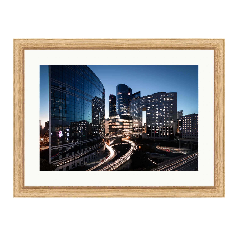 city of light bare wood frame mockup