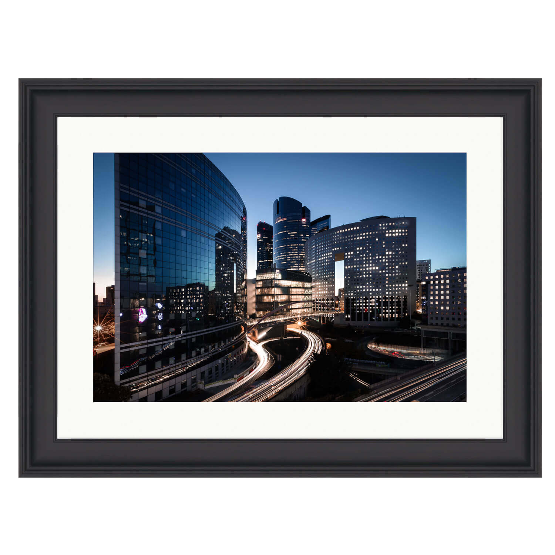 city of light black frame mockup