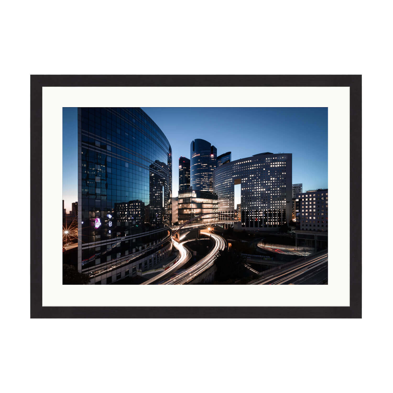 city of light box frame mockup