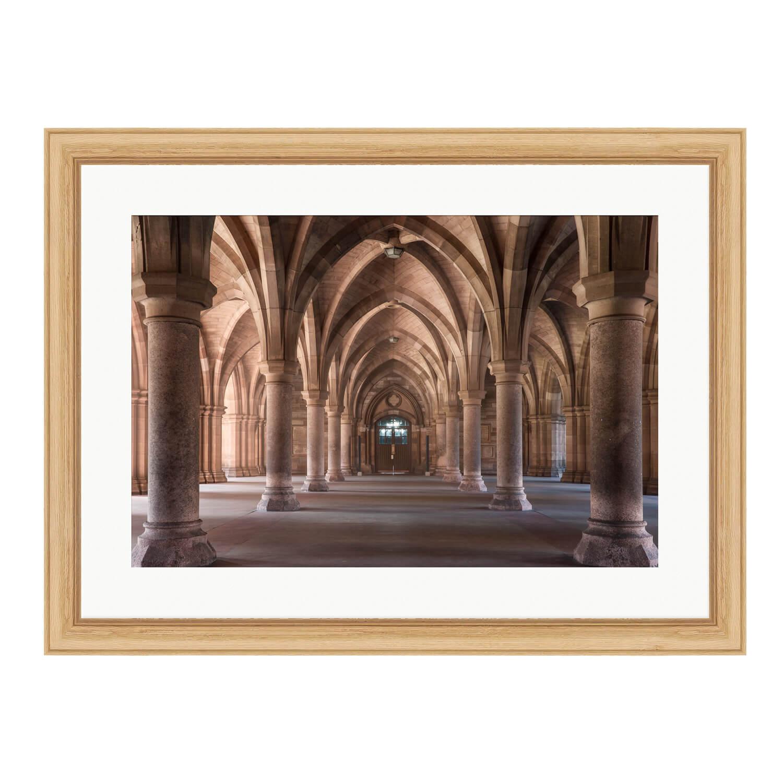 glasgow cloister bare wood frame mockup