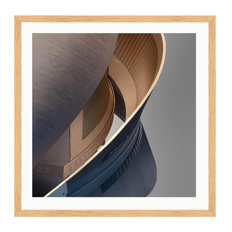 finesse bare wood box frame mockup
