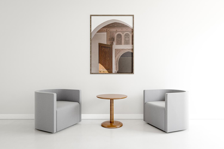 half moon interior frame rendering