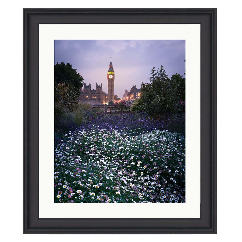 london in spring black frame mockup
