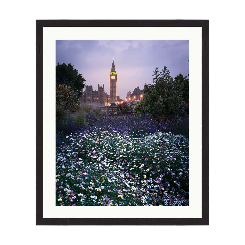 london in spring box frame mockup