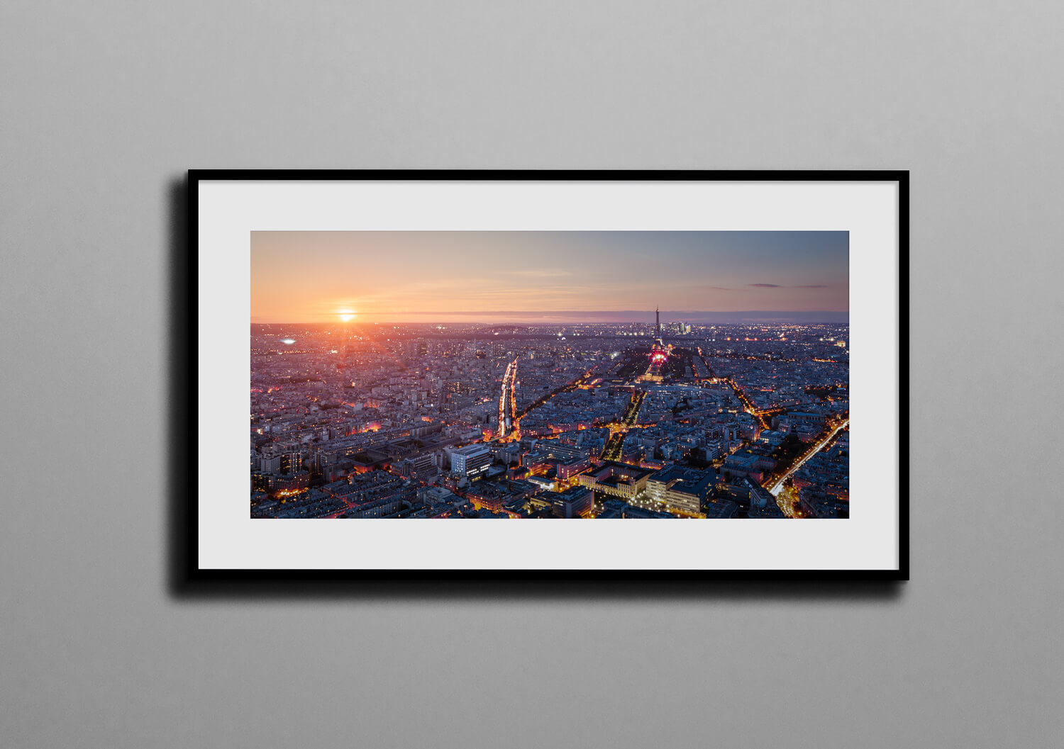 one night in paris box frame mockup