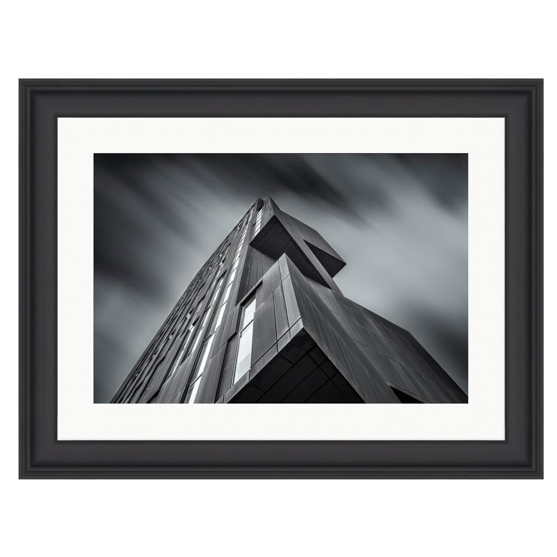 perspective black frame mockup