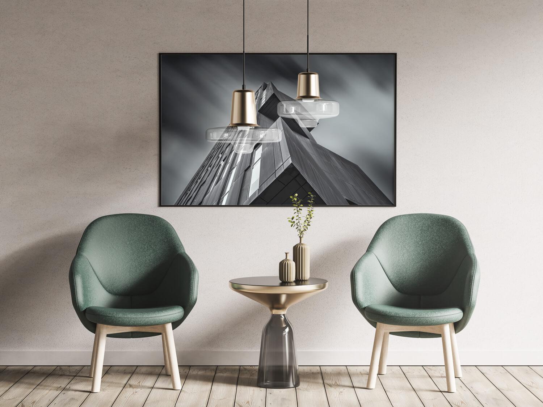 perspective interior frame rendering