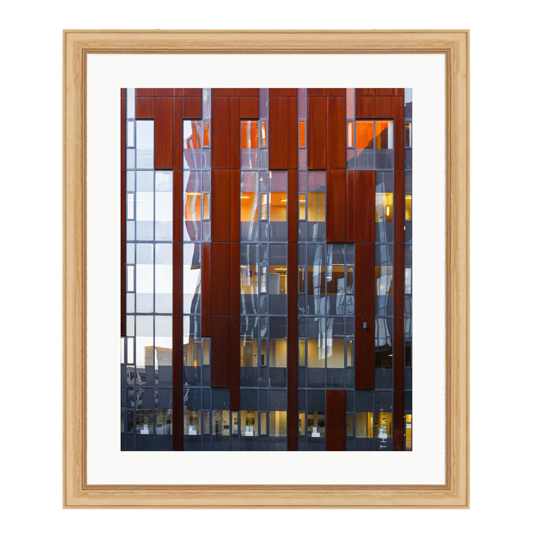 reflexion bare wood frame mockup