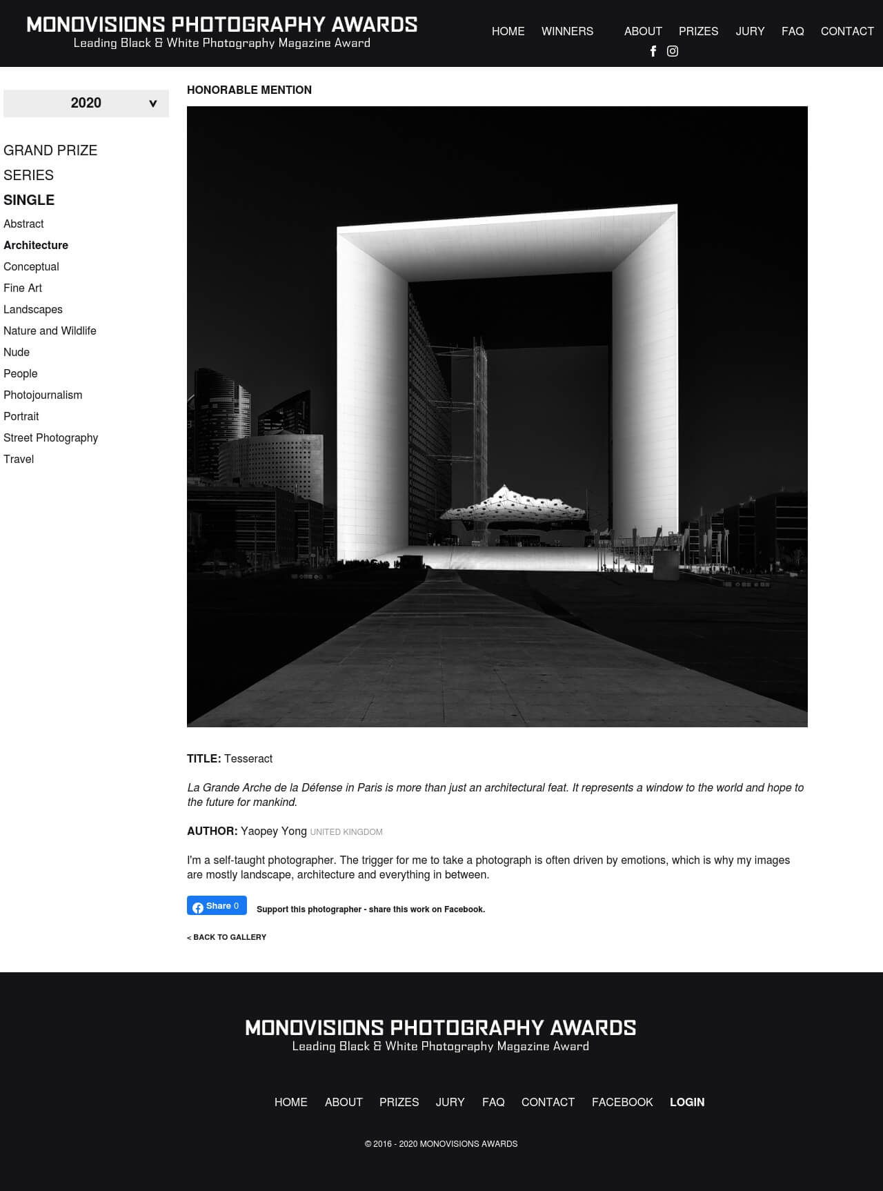 monovision photography award honorable mention